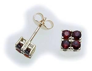 【送料無料】ネックレス イヤリングゴールドガーネットイエロースタッドwomens earrings m granat in gold 585 garnet yellow studs 69295gr