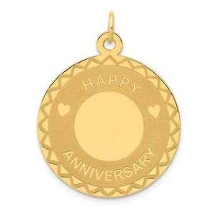 【送料無料】ネックレス 14kイェローゴールドxac59414k yellow gold happy anniversary charm xac594