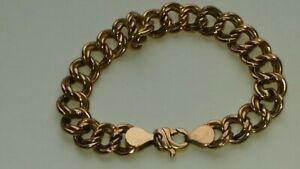 【送料無料】ネックレス ローズゴールドダブルリンクブレスレットグラム9ctrose gold double link bracelet 9 gramsfull uk hallmarks