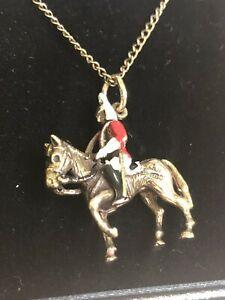 【送料無料】ネックレス ゴールドペンダントチェーンrare 9ct gold georg jensen horse amp; soldier pendant amp; chain 88grams hallmarked