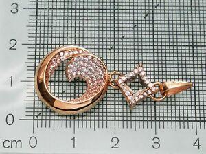 ネックレス ロシア58514ctペンダント58514ct russian solid rose gold  circle drop pendant