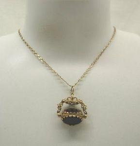 【送料無料】ネックレス ゴールドゴールドチェーンスピナーペンダントa 9ct gold amp; agate spinner pendant on 9ct gold chain