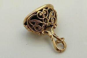 ネックレス ビンテージソリッドゴールドエンボスシールrare vintage hm 9ct solid gold 3d embossed seal or charm 570 g