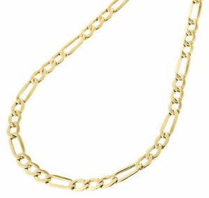 ネックレス mens10kイェローゴールドフィガロチェーン47mmネックレス1630インチ
