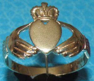 【送料無料】ネックレス secondhand 9ct yellow goldcladdaghring size wsecondhand 9ct yellow gold claddagh ring size w
