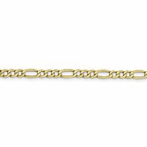 ネックレス フィガロチェーン10k 44mm semisolid figaro chain 10bc94