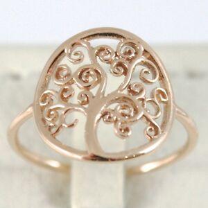 【送料無料】ネックレス ゴールドリングピンクイタリアサークルツリーgold ring pink 750 18k with tree of life, circle, made in italy