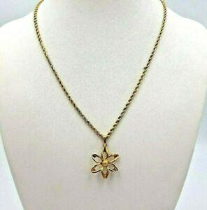 【送料無料】ネックレス ロープチェーンフラワーペンダントkゴールドtricolour rope chain amp; flower pendant 18k gold 11510t