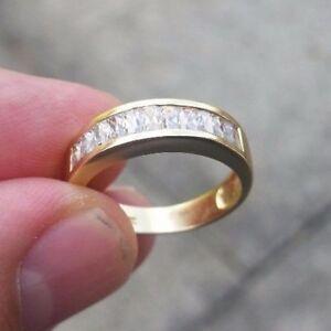 【送料無料】ネックレス 18ctczリングサイズo18ct gold cz ring size o