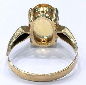 ネックレス イエローゴールドシトリンリングサイズ18ct yellow gold citrine stone ring size t