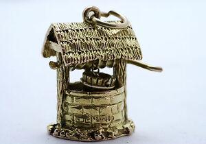 【送料無料】ネックレス チャーム9ct9ct gold charm, wishing well charm, good detail
