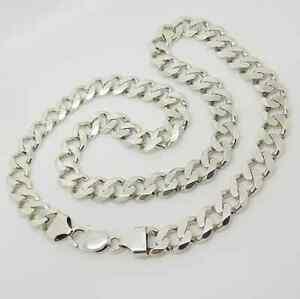 ネックレス ソリッドスターリングシルバーリンクチェーンsolid sterling silver 22 heavy curb link chain 87g