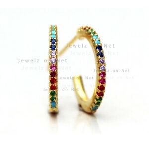 送料無料 ネックレス 14kイェローゴールドmultiイアリングsolid 14k 安い 激安 プチプラ 高品質 毎日激安特売で 営業中です yellow gold genuine hoop gemstone jewelry handmade earrings multi