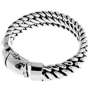 送料無料 ネックレス ヘビチェーンハンドメイドスターリングシルバーブレスレット15mm wide 即出荷 very heavy snake 810 chain 925 数量限定アウトレット最安価格 bracelet sterling silver handmade