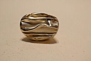 送料無料 ネックレス スターリングシルバーファッションドレスリボンリングlarge english sterling 超安い silver dress 並行輸入品 ribbon fashion ring wavy