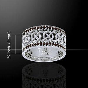 送料無料 ネックレス ピーターストーンケルトelegant garnet gemstone 25%OFF celtic knotwork 超特価SALE開催 by ring peter stone