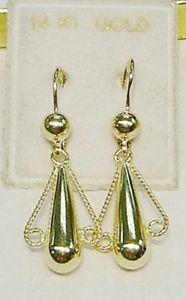 送料無料 ネックレス 14kwスクロールイアリング 使い勝手の良い 14k solid 人気の製品 gold earrings wscrolls drop hanging
