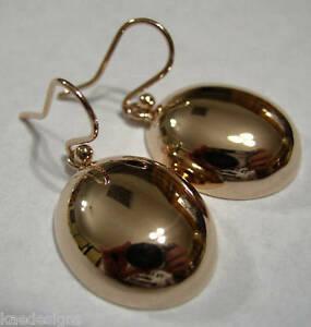送料無料 ネックレス genuine huge 9ct 再再販 9kt 格安激安 solid rose large half largehalf earringsgenuine oval gold hook