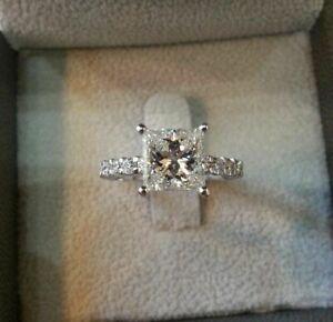 送料無料 ネックレス 14kホワイトゴールド275ctホワイトカットgorgeous 低価格化 certified 275ct white princess gold 上質 ring in engagement 14k cut