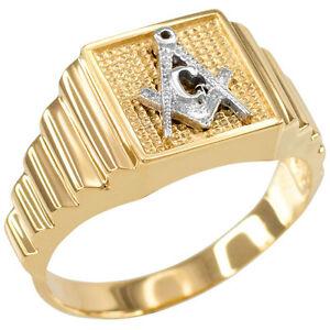 送料無料 ネックレス ゴールドスクエアメンズリングtwotone gold mens 売り出し masonic 新着セール square ring