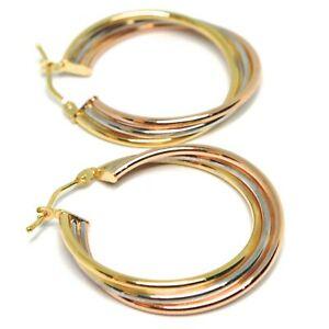 送料無料 ネックレス イヤリングズホワイトゴールドピンクイエロー750 18k3チューブ28cmearrings circle white gold pink 18k 3 28 twisted tubes チープ cm 10%OFF yellow 750