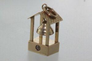 送料無料 ネックレス ヴィンテージkゴールドスタンペンダントベルvintage 14k gold Seasonal 特売 Wrap入荷 bell with charm stanhope movebale pendant
