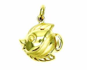 特価品コーナー☆ 送料無料 ネックレス yellow gold fish pendant 18kt fishyellow 最新アイテム