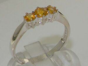 【送料無料】ネックレス z9ctホワイトゴールドレモンwomensサイズjsolid 9ct white gold natural citrine womens trilogy ring sizes j to z