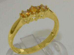 【送料無料】ネックレス ソリッドイエローゴールドシトリンリングサイズsolid 9ct yellow gold natural citrine womens trilogy ring sizes j to z