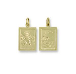 送料無料 ネックレス イエローゴールドセントクリストファーペンダントyellow 正規品 gold rectangular 限定価格セール st 28mm shaped pendant christopher