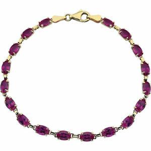 【送料無料】ネックレス 14kイェローゴールドルビー725labgrown oval ruby 725 bracelet in 14k yellow gold