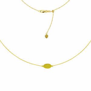送料無料 選択 ネックレス お買い得品 ミニオーバルプレートチョーカーkイエローゴールドネックレス