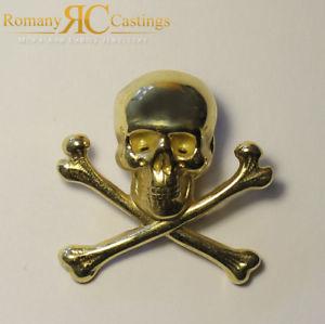 送料無料 ネックレス 定番キャンバス イエローゴールドスカルクロスボーンピンバッジ9ct メーカー公式ショップ yellow gold skull and cross bones 40 hallmarked x pin mm 689g badge 30