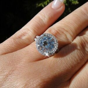 【送料無料】ネックレス ハローkホワイトゴールド200ct roundcut moissanite halo promise engagement ring 14k white gold over