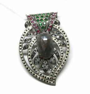 送料無料 ネックレス 925スターリングセットヴィンテージペンダントbeautiful lady 待望 925 sterling silver jewelry vintage pave setting 直輸入品激安 pendant