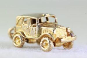 送料無料 ネックレス 毎日がバーゲンセール vintage 14kgold 3d classic car セール特価品 taxi wheels charm gold 14k moveable pendantvintage wheelscharm