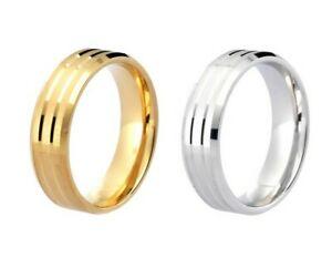 【送料無料】ネックレス 9ctイエローホワイトコートmultiパターンサテン9ct yellow white gold flat court multi groove pattern satin finish wedding ring