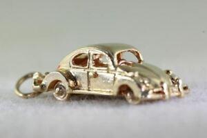 送料無料 ネックレス 売れ筋ランキング vintage 14kgold 3d classic carフォルクスワーゲンvolkswagon bugmoveable gold volks charm 14k car 激安卸販売新品 vw wheels pendantvintage