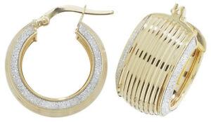 【送料無料】ネックレス イエローゴールドフープイヤリング9ct yellow gold hoops earrings 15mm