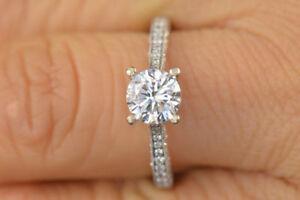 ネックレス 100 crtカットfvvs1 cc moissanite14kホワイト100 crt round cut fvvs1 camp;c moissanite engagement ring 14k white gold over