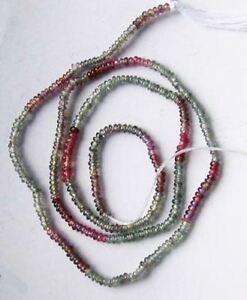 ネックレス tinysapphirebead strand 105252tiny natural sapphire roundel bead strand 105252