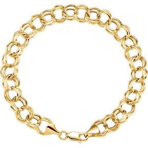 【送料無料】ネックレス 57mm14kイェローゴールド72557mm double link charm 725 bracelet in 14k yellow gold
