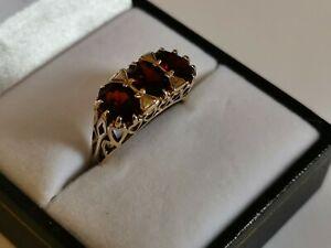 送料無料 ネックレス セット3listinggarnet9ctgold ring listinggarnet 9ct yellow gold ring threestone deep red oval gemstones heart setting