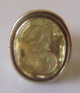 送料無料 ネックレス ヴィンテージ9ctイェローゴールドシールペンダントvintage 9ct yellow gold oval citrine stone seal fobpendantBdoeCx