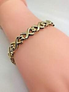 【送料無料】ネックレス 9ct 79ct yellow solid gold fancy bracelet 7