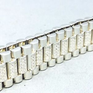 ネックレス スターリングシルバーキュービックジルコンマイクロレディースストラップブレスレットウォッチ925 sterling silver cubic zircon micro pave ladies watch strap bracelet   769
