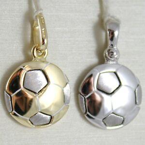 【送料無料】ネックレス イタリアイェローゴールドペンダントホワイト750 18kフットボールyellow gold pendant white or 750 18k football charm solid, made in italy