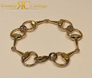 【送料無料】ネックレス 53g 9ctリンクブレスレット925スターリングequestrian snaffle link bracelet 925 sterling silver dipped in 9ct gold 53g
