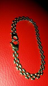 【送料無料】ネックレス デザインフレンドリースタッフポピュラーアメニティーゴールドリンクブレスレットa beautifully designed 9ct gold linked bracelet with hallmarks very strong