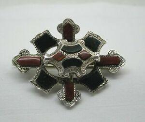 【送料無料】ネックレス ヴィンテージスコットランドブローチbeautiful vintage scottish silver and agate plaid brooch